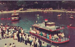 MONTREAL, Quebec, Canada; Lafontaine Park, Boat Rides in Lake, 40-60s