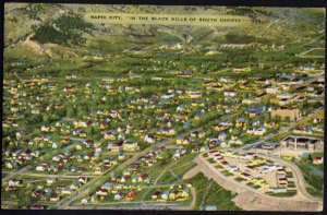 South Dakota Aerial View RAPID CITY at the edge of the Black Hills - pm1948 - L