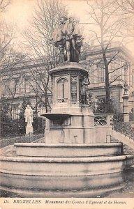 Monument des Comtes d'Egmont et de Hornes Bruxelles Belgium Unused