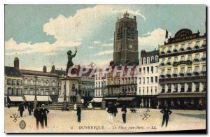 Old Postcard Dunkerque Place Jean Bart