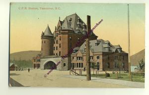 ft973 - CPR Station , Vancouver , Canada  - postcard