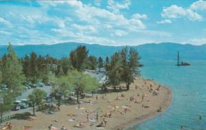 Canada Beach Scene Along Okanagan Lake Kelowna British Columbia