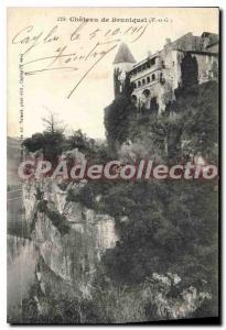 Old Postcard Tarn et Garonne Chateau Bruniquel (T and G)