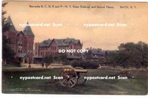 Barracks B.C.D.E & F, Soldiers & Sailors Home, Bath NY