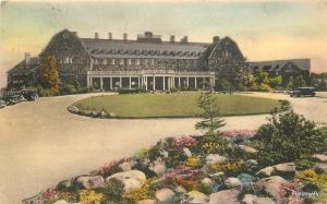 Albertype 1936 Lodge Sky Shop Pennsylvania hand colored postcard 9088