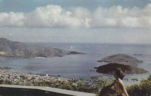 The colorful city of Charlotte Amalie, Solberg Hill, St.Thomas, Virgin Island...