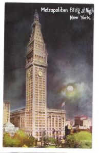 Metropolitan Building Night New York NY 1912 Postcard