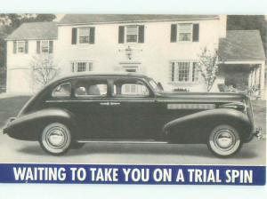 1937 Postcard Ad VERY RARE - BUICK CAR PROMOTIONAL POSTCARD AC6134