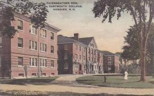 New Hampshire Hanover Fayerweather Row Dartmouth College Albertype