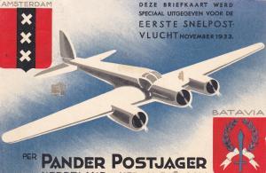 Tri-Motor Airplant Flight , Amsterdan-Batavia , 1933