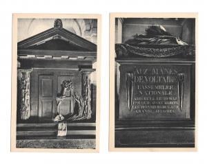 France Paris Le Pantheon Tombeau Rousseau Tomb Voltaire 2 Vintage Postcards