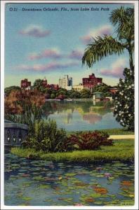 FL - Looking at Downtown from Lake Eola Park, Orlando