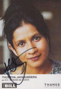 Thusitha Jayasundera DC Hamani De Costa ITV The Bill Hand Signed Cast Card Photo