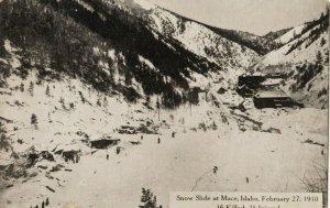 MACE , Idaho , 1910 ; Snow Slide that killed 16