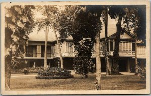 Vintage RPPC Real Photo Postcard House on Stilts View Marked HAWAII c1920s