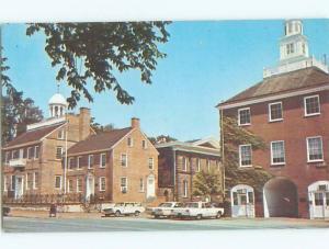 Unused Pre-1980 OLD CARS & COURT HOUSE New Castle Delaware DE n4097
