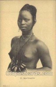 Jeune Senegalaise African Nude Unused light indentation right edge