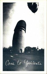 RARE - BILL SIEMERS - PIN HOLE CAMERA Ypsilanti, Michigan, Water Tower POSTCARD