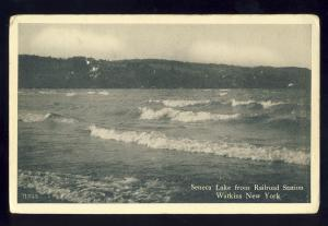 Watkins, New York/NY Postcard,  Seneca Lake From Railroad Station