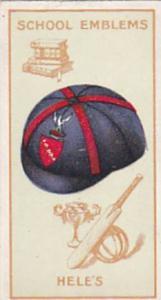 Carreras Cigarette Card School Emblems No 18 Hele's