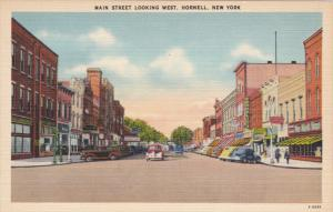 Main Street , West , HORNELL , New York , 30-40s
