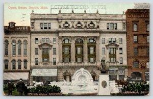 Detroit Michigan~Opera House~Michigan Central Lake Shore Ticket Office~1909