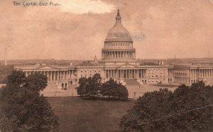 Washington, DC, U. S. Capitol, East Front, Antique Vintage Postcard g9289