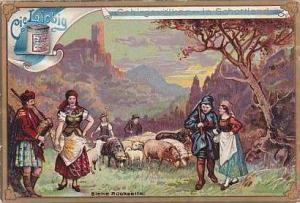 Liebig Vintage Trade Card S490 Mountain People I  1896 No 6 Scotland