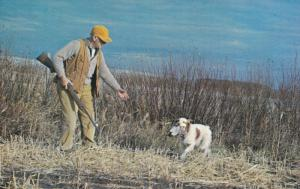 Fetch the Bird Boy, Canadian Sportsman and his Dog, Hunting, Newfoundland, ...