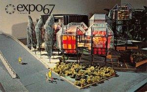 Expo 67 Canada C.N.R. Pavilion Model Canadien National 1963 Vintage Postcard