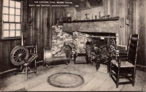 Massachusetts Boston Paul Revere House The Kitchen Built 1660