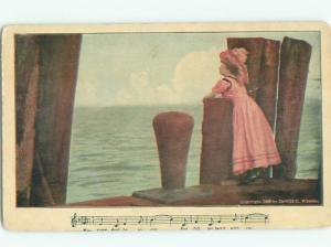 Divided-Back PRETTY WOMAN Risque Interest Postcard AA7983