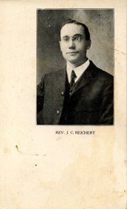 Rev. J. C. Reichert. Served NYC 1901-07; Albany 1908-15; Clay Immanuel Church...