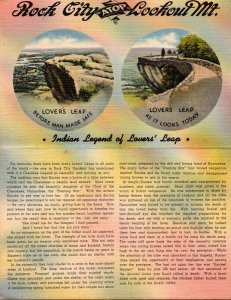 Tennessee Lookout Mountain Rock City Indian Legend Of Lovers'Leap Bi Fold