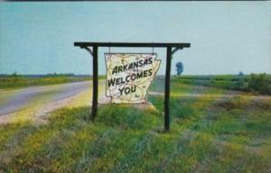 Arkansas Map Welcome Marker