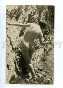 129038 NUDE Woman FAIRY Sunny Day Vintage PHOTO NOYER #4138 PC