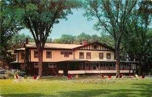 Oregon Illinois~Maxson Manor~Restaurant~1950 Postcard
