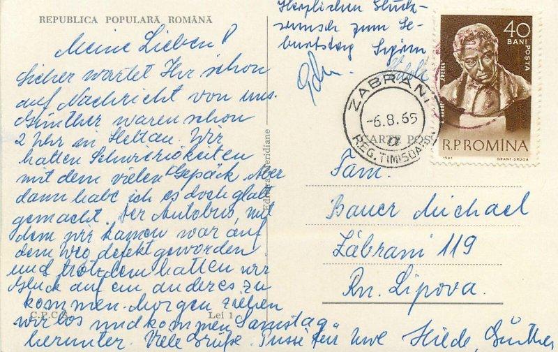 Romania Sibiu multi view vedere generala biserica turn ceas  Postcard