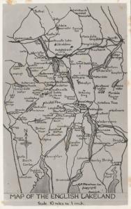 RP; Map , English Lakeland , 1920-40s