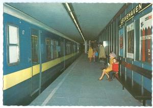 Metro Rotterdam, Leuvehaven Station 1960s unused Postcard