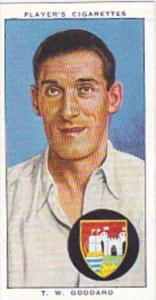 Player Cigarette Card Cricketers 1938 No 10 T W Goddard Gloucestershire &amp ...