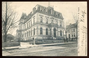 h2132 - SHERBROOKE Quebec Postcard 1910s Eastern Townships Bank by Pinsonneault