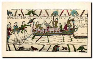 Postcard Old Bayeux Tapestry Queen