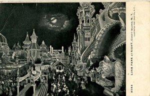NY - Coney Island. Luna Park at Night