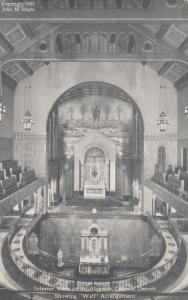 DETROIT , Michigan, 1900-1910s; Interior , St Aloysius Church