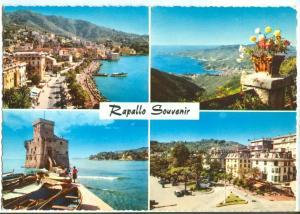 Italy, Rapallo Souvenir, Multi view, unused Postcard