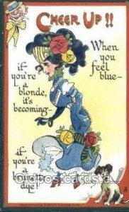 Cheer Up!! Series Artist Dwig, Dwiggens, 1911 postal used 1911