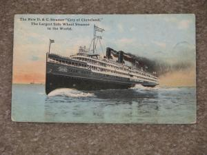 New D.&C. Steamer City of Cleveland,  Largest Side Wheel Steamer in the World