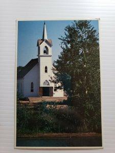 Vintage Postcard Coldwater Road Chapel Crossroads Village Michigan 1986 unposted