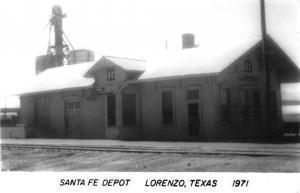 Lorenzo Texas Santa Fe Depot Real Photo Antique Postcard K73246